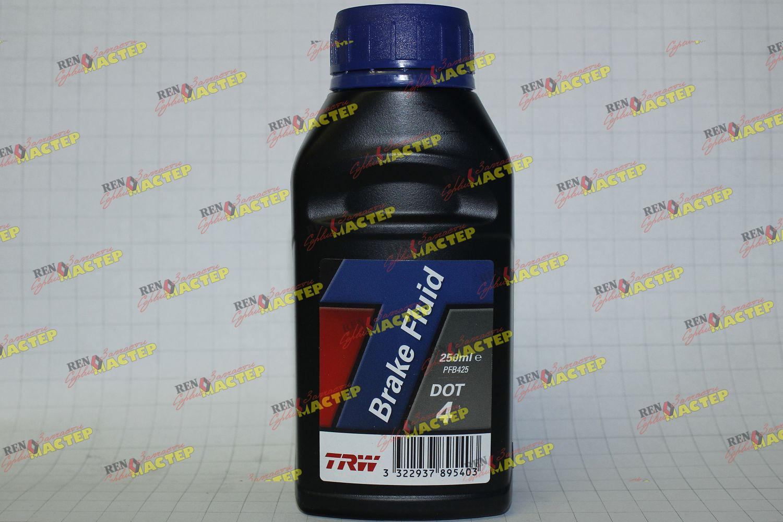 Жидкость тормозная (синтетическая) TRW DOT 4 (канистра 0,25л)    РеноМастер - запчасти и сервис Renault